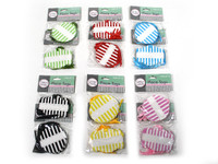 Striped Gift Tags Pk 12 Black