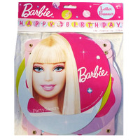 "Barbie ""Happy Birthday"" Letter Banner"