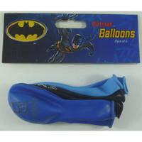 Batman Latex Balloons Pk 6