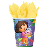 Dora The Explorer Cups Pk 8