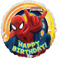 Spiderman 'Happy Birthday' Foil Balloon