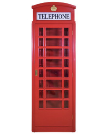 English Style Telephone Booth (British Red)