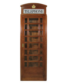English Style Telephone Booth (Mahogany Finish)