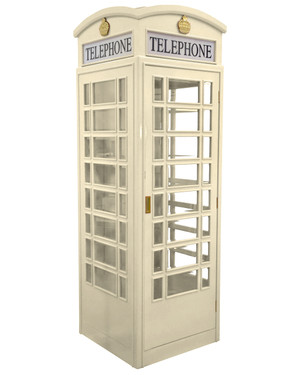 English Style Telephone Booth (Antique White)