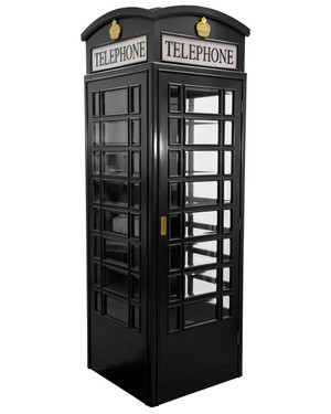 English Style Telephone Booth (Black)