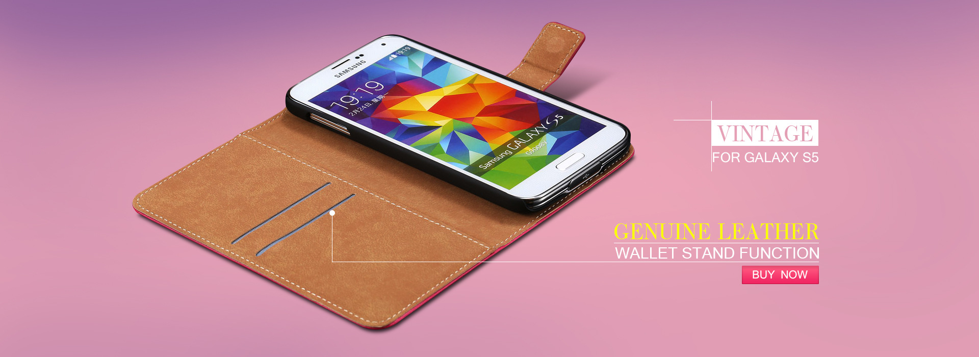 Samsung S5 Leather Case