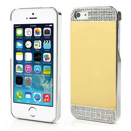 iPhone 5S Luxury Diamond Mirror Case Gold/Silver