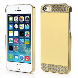 iPhone 5S Luxury Diamond Mirror Case Full Gold