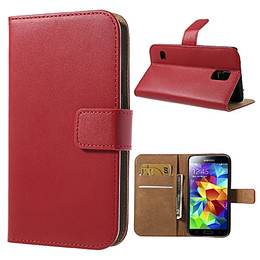 Samsung S5 Mobile Leather Red