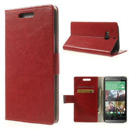 HTC one M8 shiny wallet case