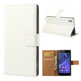 Sony Z2 wallet case white