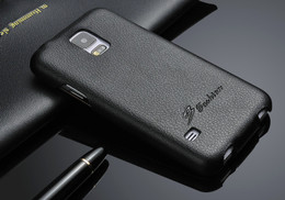 Samsung S5 real leather case black