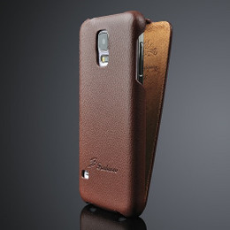Samsung S5 phone real leather case