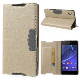 Sony Xperia case gold