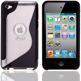 iPod Touch 4G S Design Gel Case Black