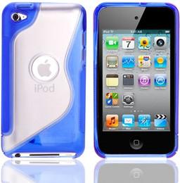 iPod Touch 4G S Shape Gel Case Blue