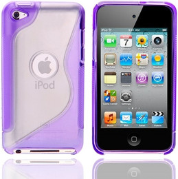 iPod Touch 4G S Shape Gel Cover Purple