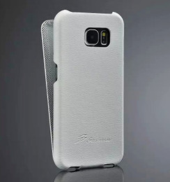 Samsung Galaxy S6 Leather Flip Case White