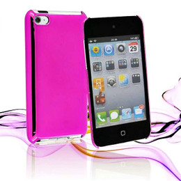 iPod Touch 4G Metallic Finish Mirror Case Pink