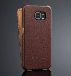S6 Edge Leather Flip Cover