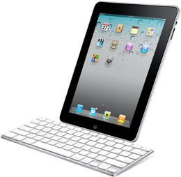 Bluetooth Ultra Slim Keyboard White for iPhone iPad