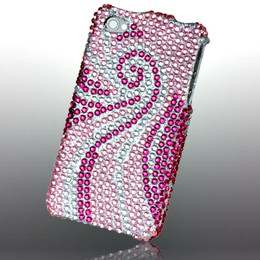 iPhone 4S 4 Bling Phoenix Case Pink White