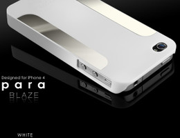 More iPhone 4S 4 Para Blaze Slim Case White