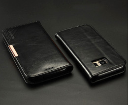 Samsung Galaxy S7 Premium Leather Case Black