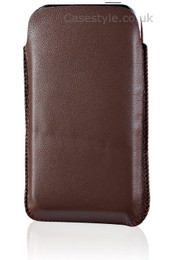 Ultra Slim iPhone 4S 4 Leather Slip Pouch Brown