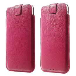 iPhone 8 Plus Leather Pouch Pink