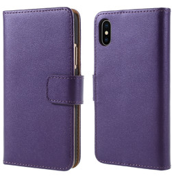iPhone X Wallet Case Purple