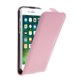 iPhone 8 Leather Flip Case Pink