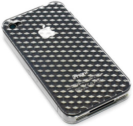 iPhone 4S 4 Crystal Diamond Back Gel Case Clear