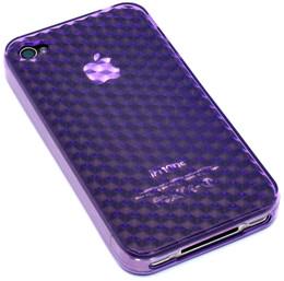 Crystal 3D Diamond Back iPhone 4 Case Purple