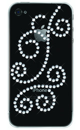 iPhone 4S Bling Spirals Rhinestone Case Clear