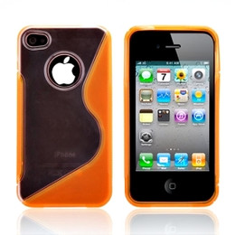 iPhone 4S 4 Side Grip Hard Cover Orange
