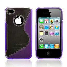 iPhone 4S 4 Side Grip Hard Case Purple