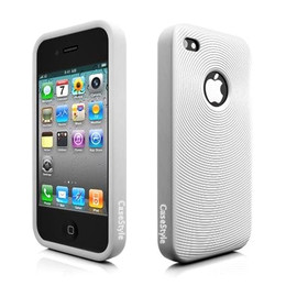 Swirl Circle iPhone 4 Silicone Skin White