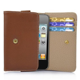 iPhone 4S 4 3GS iPod Touch Soft Leather Wallet Brown