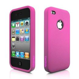 iPhone 4 Swirl Circle Silicone Skin Pink