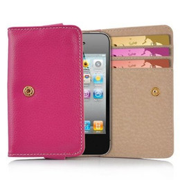 iPhone 4S 4 3GS iPod Touch Soft Leather Wallet Pink