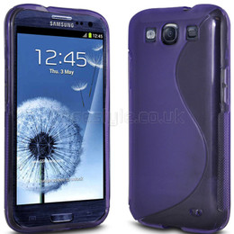 Samsung Galaxy S3 Silicone Gel Wave Case Purple