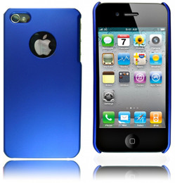 iPhone 4S 4 Anti Scratch Smooth Feel Case Blue