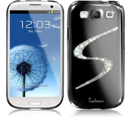 Samsung Galaxy S3 Luxury Bling Case Black