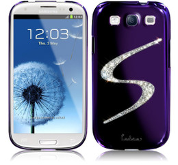 Samsung Galaxy S3 Luxury Bling Case Purple