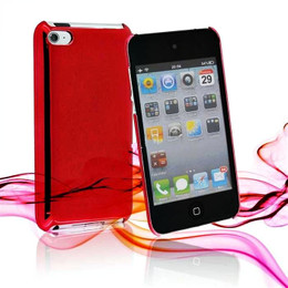 iPod Touch 4G Metallic Finish Mirror Case Red