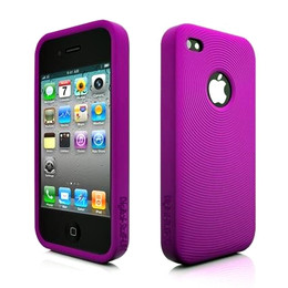 iPhone 4 Swirling Series Silicone Skin Purple