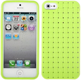 iPhone 5 Woven Skin Green