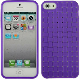 iPhone 5 Purple Skin Woven Back