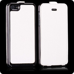 iPhone 5 White Leather Luxury Case